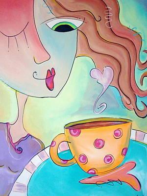 Espresso Painting - Good Morning Coffee by Carla MacDiarmid