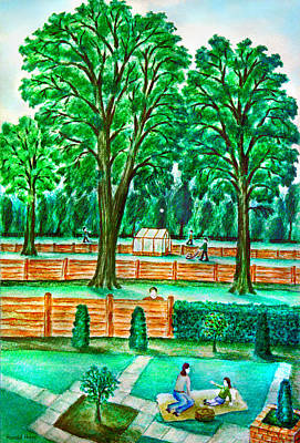 Picnic Painting - Good Neighbours by Ronald Haber