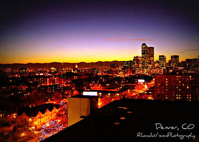 Good Night Mile High Art Print by Rhonda DePalma
