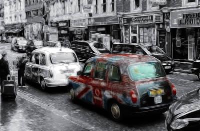 Good Old London Cab Art Print by Steve K