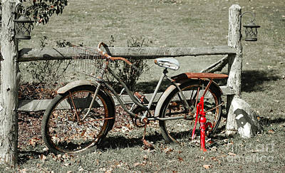 Photograph - Good Ole Times Bike And Hand Pump by Peggy Franz