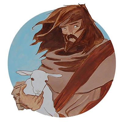Miguel Art Drawing - Good Shepherd 2 by Miguel De Angel