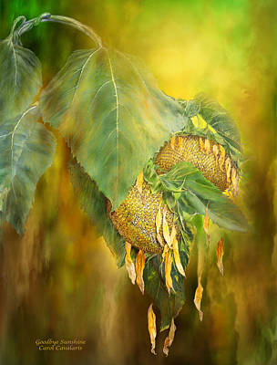 Mixed Media - Goodbye Sunshine by Carol Cavalaris