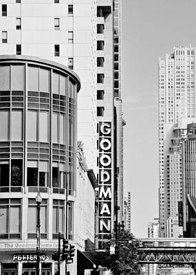 Goodman Theatre Center Chicago Art Print by Christine Till