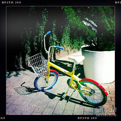 Art Print featuring the photograph Google Mini Bike by Nina Prommer