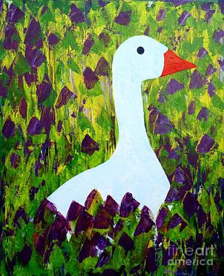 Painting - Goose by Barbara Moignard