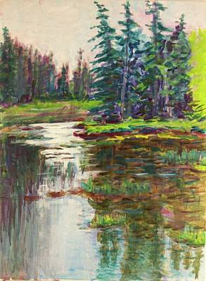 Painting - Goose Cove In Acadia by Nicolas Bouteneff