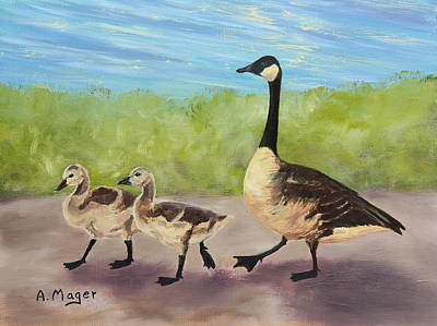 Painting - Goose Step by Alan Mager