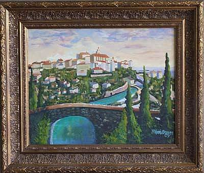 Hill Top Village Painting - Gordes In Provence by Mimi  Bauer