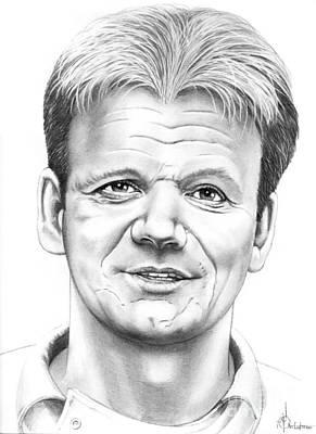 Famous People Drawing - Gordon Ramsey by Murphy Elliott