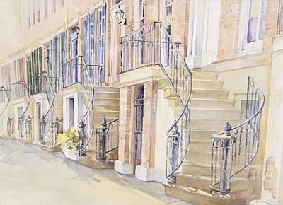 Gordon Row Art Print by Lynne Grant