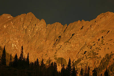 Gore Range Alpenglow Art Print by Bob Berwyn