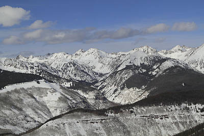 Gore Range Photograph - Gore Range, Dillon, Colorado, In Winter by John Kieffer