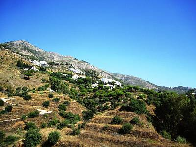 Photograph - Gorgeous Hillside View Of Mijas Spain by John Shiron