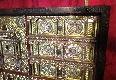 Photograph - Gorgeous Star Of David Antique Golden Chest Closet Jewish Origin Close Up In Segovia Castle Spain by John Shiron