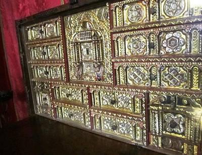 Photograph - Gorgeous Star Of David Antique Golden Chest Jewish Origin In Segovia Castle Spain by John Shiron