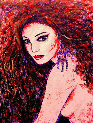 Redhead Mixed Media - Gorgeous Woman by Natalie Holland