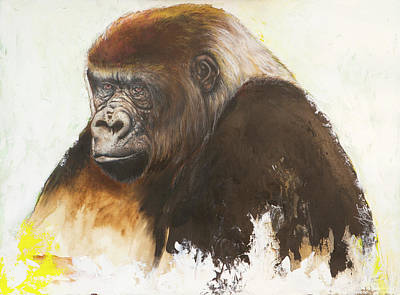 Mixed Media - Gorilla by Anthony Burks Sr