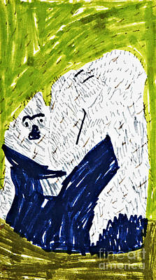 Gorilla With Child Original by Stephanie Ward
