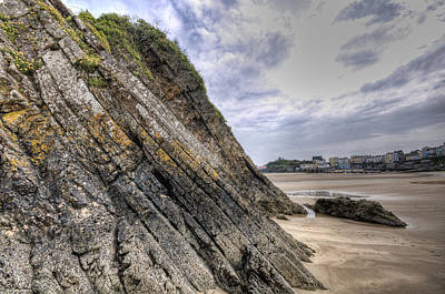 Featured Tapestry Designs - Goscar Rock Tenby 3 by Steve Purnell