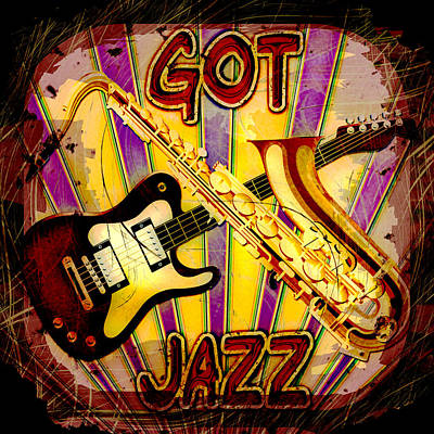 Got Jazz Abstract Art Print by David G Paul