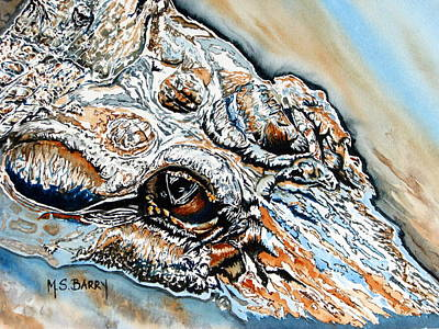 Gators Painting - Got My Eye On You by Maria Barry