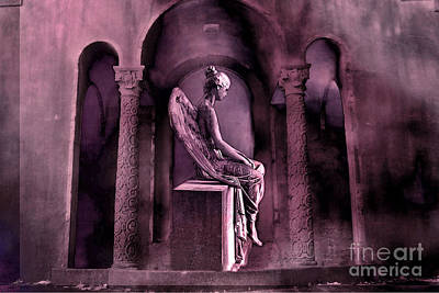Spiritual Angel Art Photograph - Gothic Fantasy Surreal Angel In Mourning by Kathy Fornal