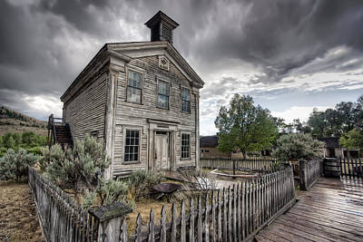 Gothic Masonic Temple 2 - Bannack Ghost Town Art Print by Daniel Hagerman