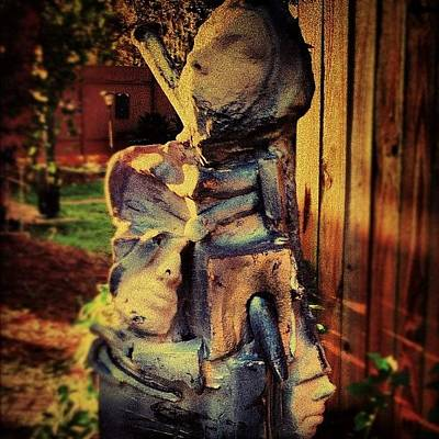 Horror Wall Art - Photograph - Gothic Melded Men Sculpture #gothic by Michelle Huey