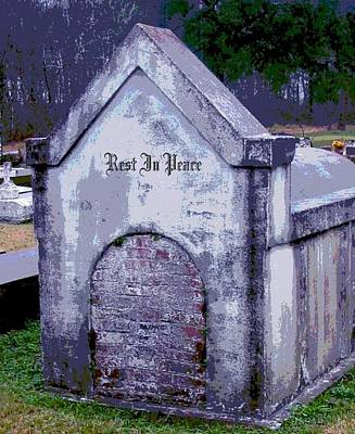 Gothic Rest In Peace Art Print by Marian Hebert