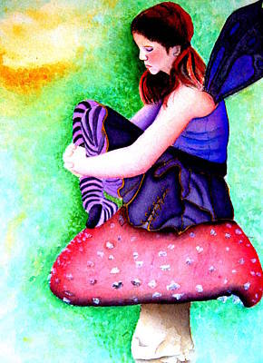 Gothic Teenage Fairy Art Print by Amanda Pillet