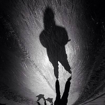 Shadow Photograph - Gotta Love This Dutch Winter... #shadow by Robbert Ter Weijden