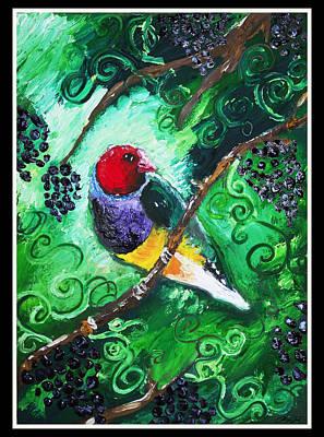 Golden Vines Painting - Gouldian Vine by Sydney Gregory