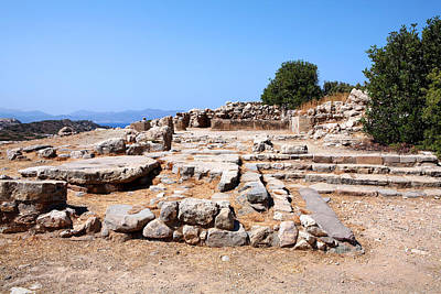 Minoan Photograph - Gournia Minoan Palace by Paul Cowan