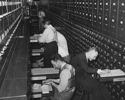 File Cabinets Photograph - Government Employees At The New Social by Everett