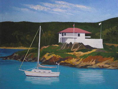 Government House At Cruz Bay Art Print by Robert Rohrich