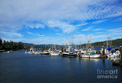 Government Wharf In Sooke Harbour Art Print by Louise Heusinkveld