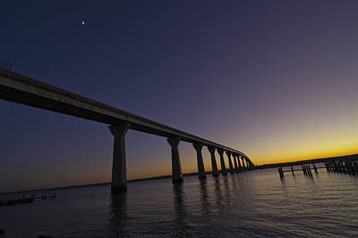 Photograph - Governor Thomas Johnson Bridge by Kelly Reber