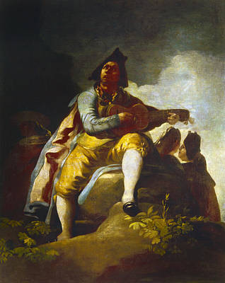 Goya: Guitarist Art Print by Granger
