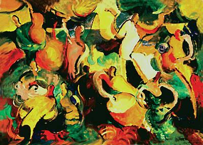 Gozando Art Print by John Crespo Estrella