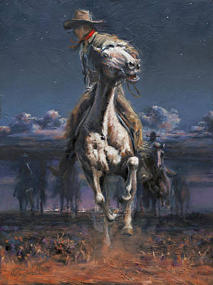 Art Of Mia Delode Painting - Grab The Fast Horse by Mia DeLode