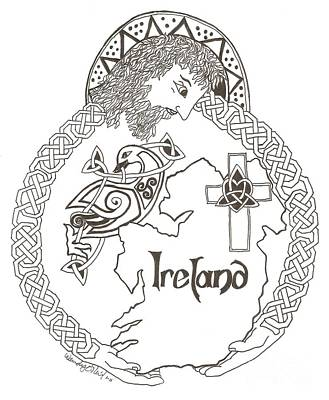 Celtic Cross Drawing - Grace For All by Wendy ONeil