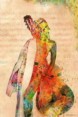Woman Mixed Media - Gracias A La Vida Que Me Ha Dado Tanto by Mark Ashkenazi