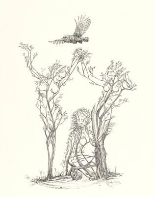 Toronto Artist Drawing - Gracious Haven by Mark Johnson