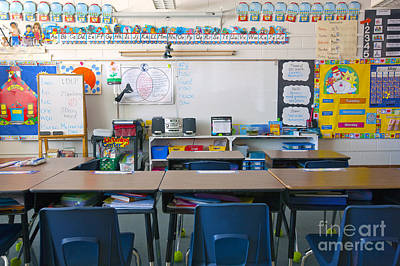 A Cluttered Desk Photograph - Grade School Classroom by Will & Deni McIntyre