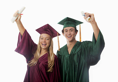 Photograph - Graduation Couple V by Tomas del Amo