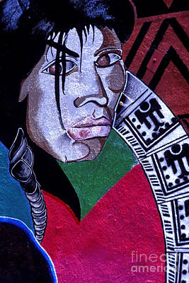Photograph - Graffiti - Aztec Face by Paul W Faust -  Impressions of Light