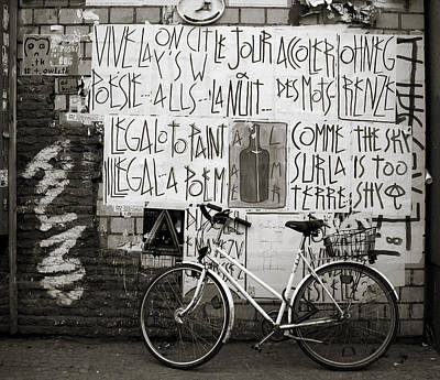 Bottles Photograph - Graffiti And Bicycle by RicardMN Photography