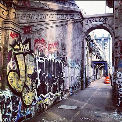 Manhattan Wall Art - Photograph - Graffiti Bridge by Randy Lemoine