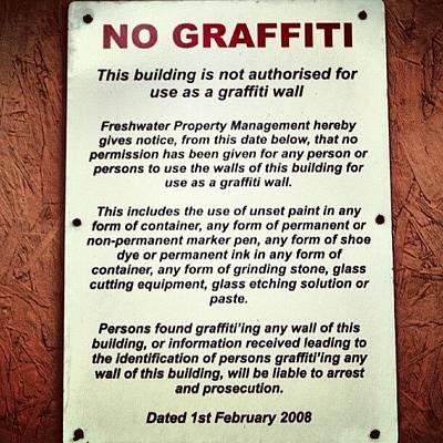 Street Photograph - Graffiti by Lewis Ross